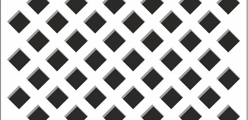 Perfonet White Nevada Perforated Panels FSC® Certified Perforated MDF Panels